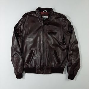 VTG 80's Members Only Leather Jacket Size:44 L